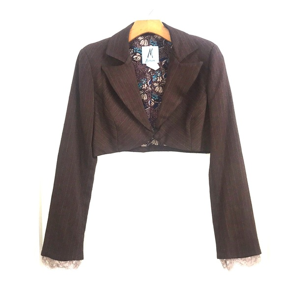 Marciano Jackets & Blazers - Marciano Brown with Pink Pinstripe Suit
